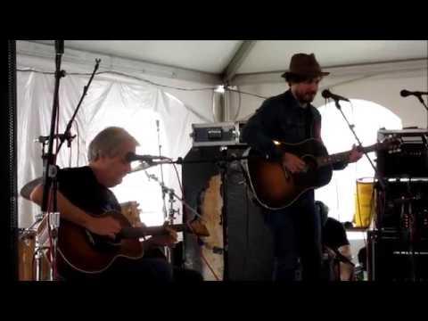 Jeff Daniels and Johnny Gallagher Jr  Afternoon @  2018 Philadelphia Folk Festival