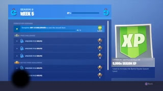 Fortnite season countdown till week 5 battle pass challenges ill help yall to