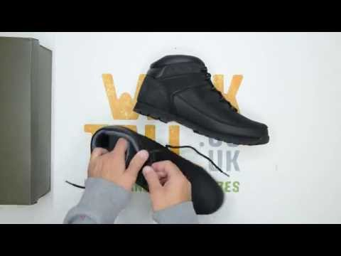 9b4b63b942c Timberland Euro Sprint Hiker - Black - Walktall | Unboxing | Hands ...