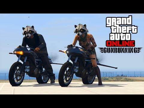 GUNRUNNING DLC!  STUNTS AND MISSIONS!  ALL DAY!!!