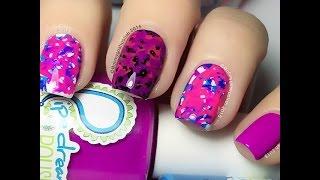 No Mess No Fuss Splat Nail art - Stabby Stamper ;)