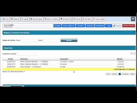Reporte Balance General Personal - SM Software Médico 2015