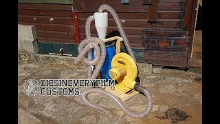 Simple Dust Collector With a Bouncy Castle & Cyclone