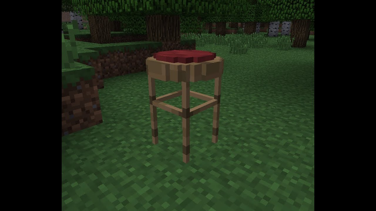 minecraft comment faire un tabouret de bar youtube. Black Bedroom Furniture Sets. Home Design Ideas