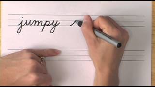 How To Write In Cursive // Lesson 21 // A Complete Course // Free Worksheets
