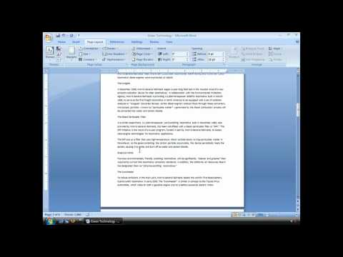 Using Breaks in Microsoft Works