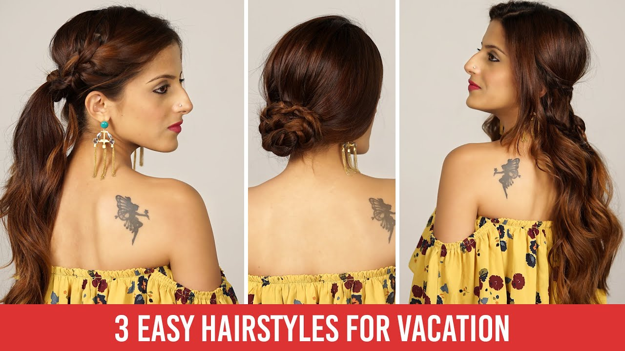 3 quick & easy heatless everyday holiday hairstyles tutorial