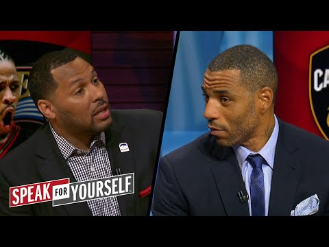 Is LeBron\'s run more impressive than Iverson\'s? | NBA | SPEAK FOR YOURSELF