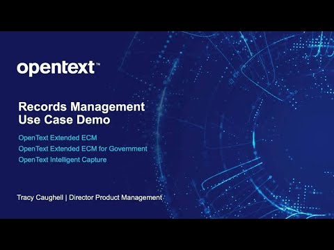 A video about a use case demo where a Records Manager approves disposition, updates security, performs redactions and check on status of physical records