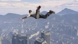 GTA 5 SKYDIVING, PARACHUTES AND HELICOPTERS Gameplay, Let