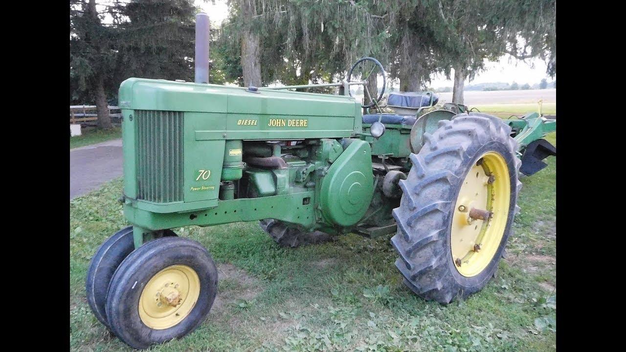 John Deere 70 Diesel 2 cylinder vintage tractor