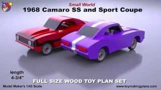 Wood Toy Plans - Small World 1968 Camaro
