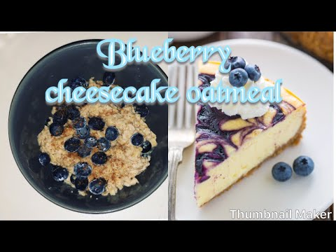 Blueberry Cheesecake Overnight Oatmeal
