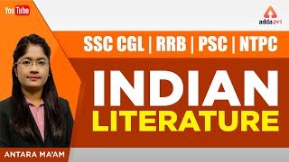 SSC CGL,RRB,PSC,NTPC | Indian Literature | Antara Ma'am | 1 PM
