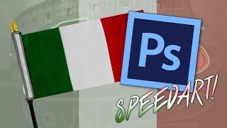 Italian text : Speed art (Photoshop CC)
