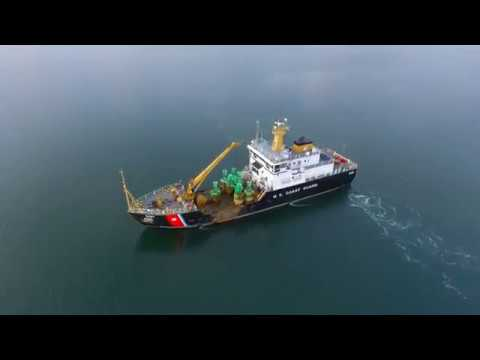 4K Drone - Buoy Tender and Sunset