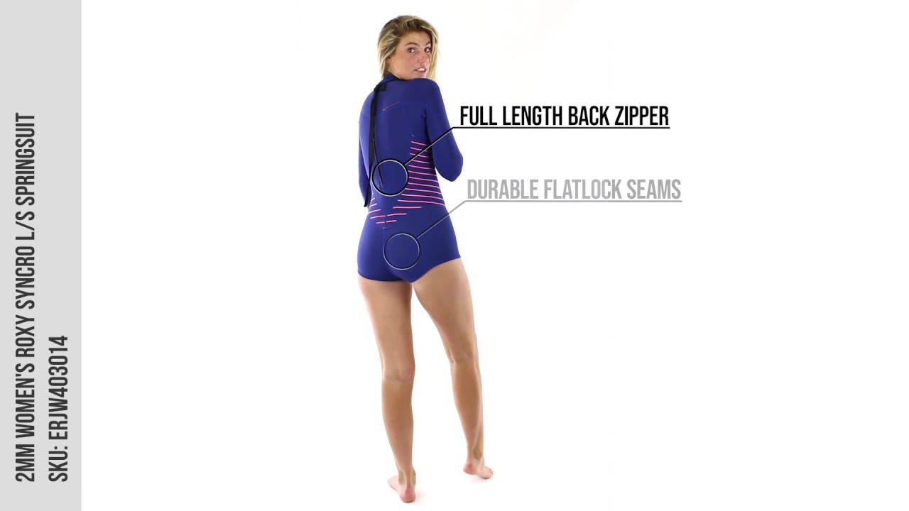 37abf6ab9a 2mm Women s Roxy SYNCRO L S Springsuit - Wetsuit Wearhouse - YouTube