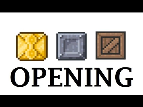 Case Opening Terraria Wooden Crate Iron Crate Golden Crate