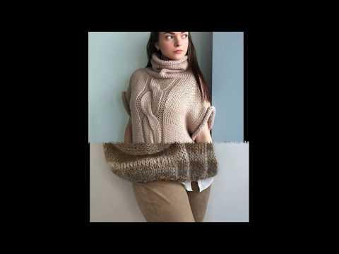 Вязание спицами полуверы женские