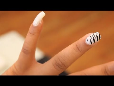 How to Do a Zebra Print Manicure on Nails : Nail Painting ...