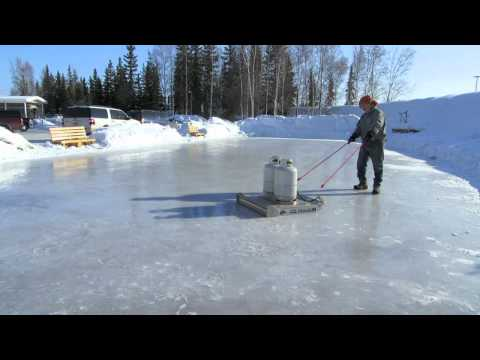 Time Lapse: Pioneer Park (Alaskaland) Ice Rink Resurfacing