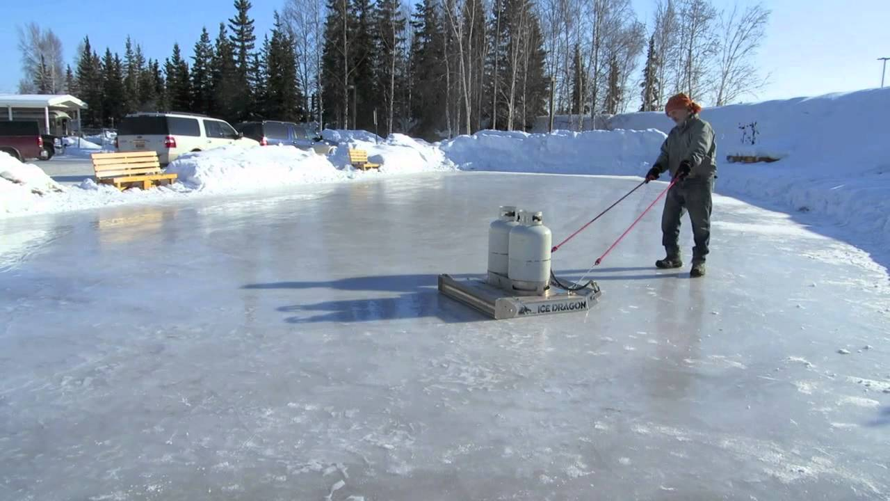 time lapse pioneer park alaskaland ice rink resurfacing youtube