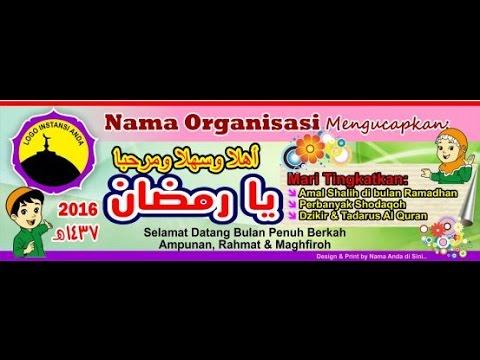 Download Spanduk Dan Banner Menyambut Ramadhan