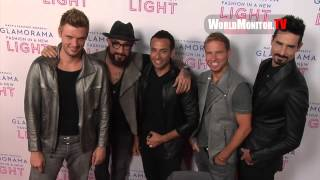 'Backstreet Boys' arrive at Macy's Passport Presents Glamorama 2013