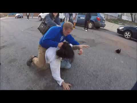 Big Street Fight In Paterson New Jersey