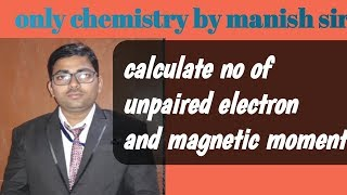 calculate no of unpaired electrons in d block elements