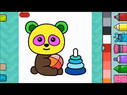 Sevimli Panda Boyama Panda Colouring çocuklar Için Süper Renkli