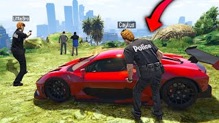 Stealing RARE Supercars As FAKE COP In GTA 5 RP..