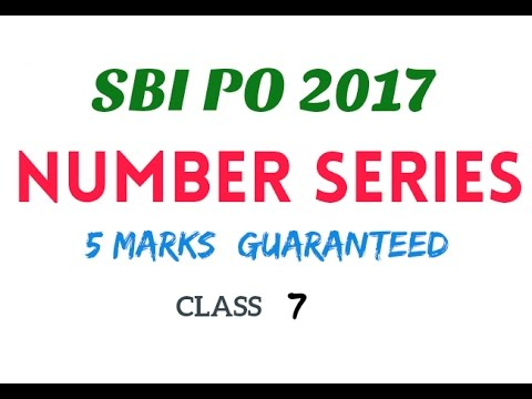 Number series || 5 marks guaranteed || SBI po class 7