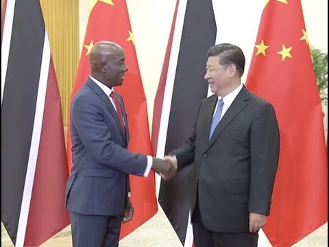 Chinese President Calls for Connection of Development Strategies Between China, Trinidad and Tobago