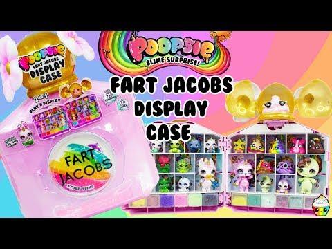 Poopsie FART JACOBS Display Case Stores Slime, Sparkly Critters, Cutie Tooties