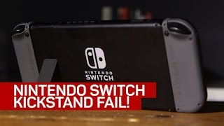 Kickstand fail: Watch the Nintendo Switch fall flat