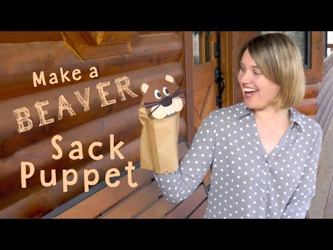 Make a Beaver Sack Puppet | Easy DIY Craft Project for Kids