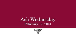Ash Wednesday Service 2021 St. John's Ida & Christ Church Omemee