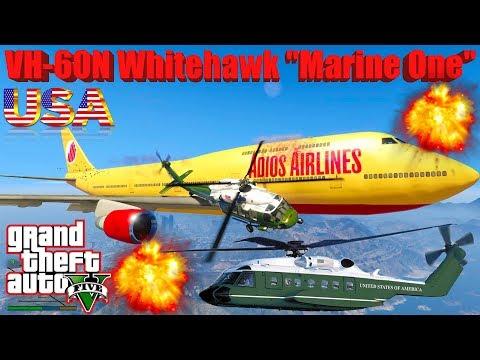 "GTA V: New Updated ""Marine One"" VH-60N Whitehawk Best Extreme Crash Compilation"