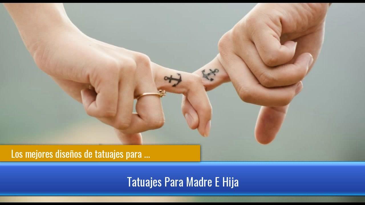 Los Mejores Disenos De Tatuajes Para Madre E Hija Youtube