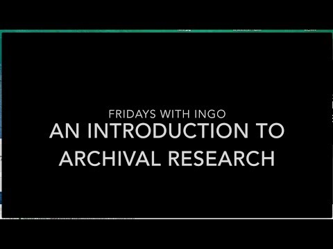 Introduction to Archival Research - Ingo Swann Collections