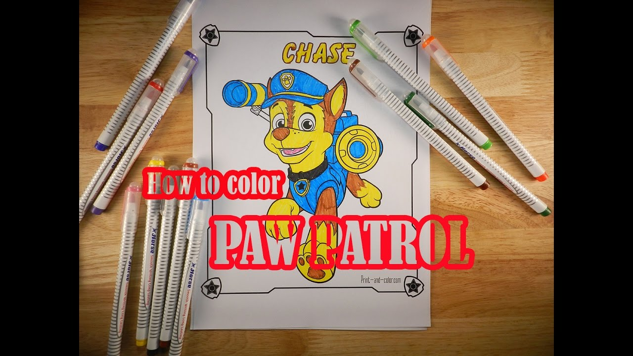 Paw Patrol Coloring Pages How To Color Chase Printable