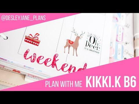 Plan With Me (kikki.K B6 Rings) : December 3, 2018