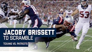 Jacoby Brissett Fakes the Handoff & Scrambles for a TD! | Texans vs. Patriots | NFL
