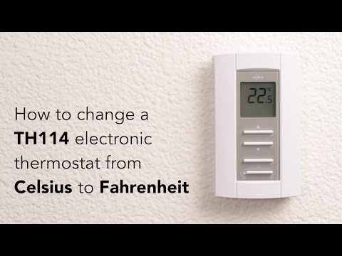 How to switch the TH114 from Celsius to Fahrenheit | Cadet Heat