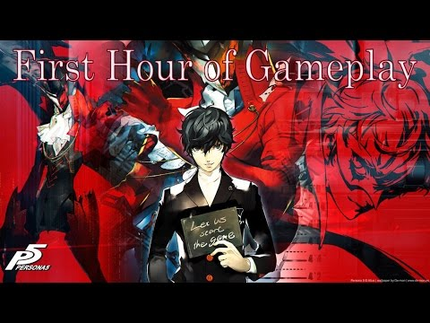 """Persona 5 - Walkthrough Part 1: """"First Hour of Gameplay"""" [English, PS4, Full 1080p HD] - 동영상"""