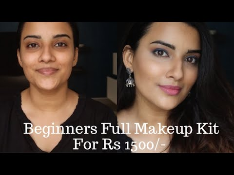 beginners full makeup kit under rs 1500/  with step