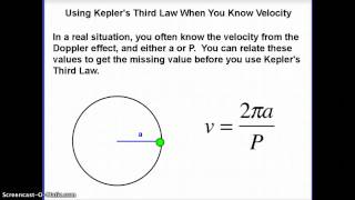 Astronomy: Kepler and Circular Velocity