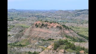 Walking Downtown Medora, North Dakota and Teddy Roosevelts National Park Painted Canyon