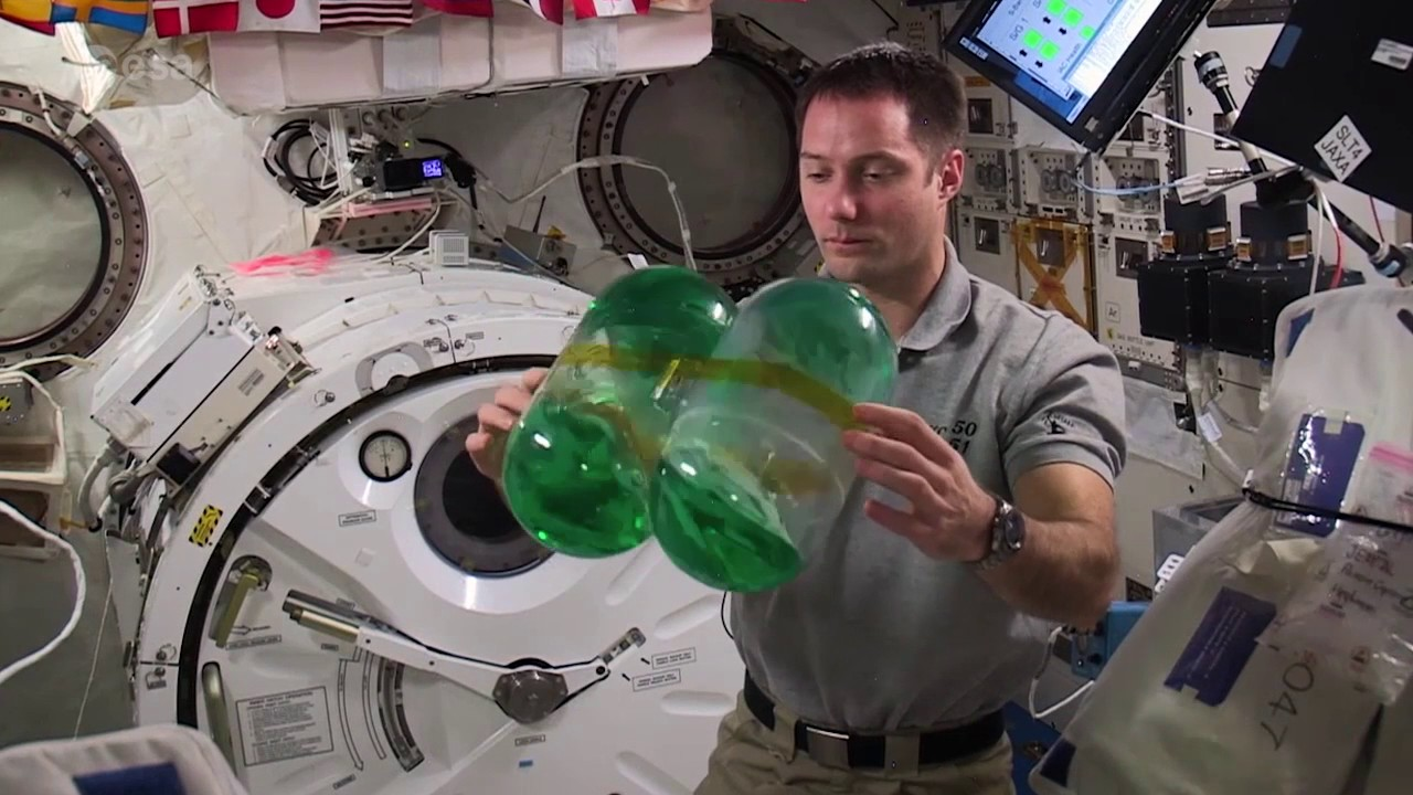 How water behaves in space